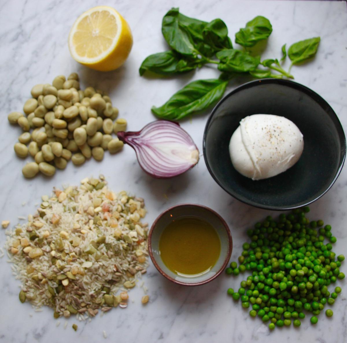 notenrijst salade ingrediënten