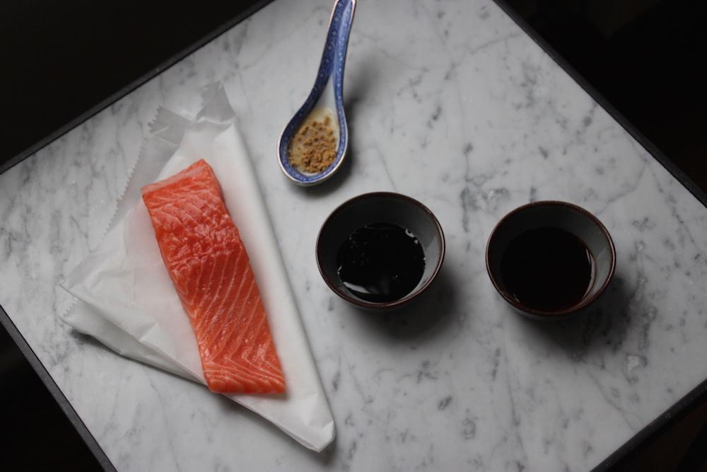 ingrediënten zalm soja ketjap gember marinade