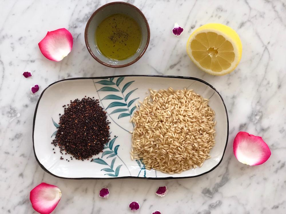 ingrediënten rijst quinoa mix
