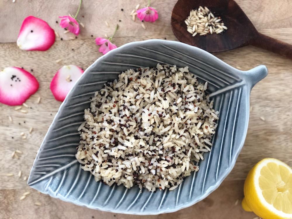 Rijst & quinoamix met citroendressing