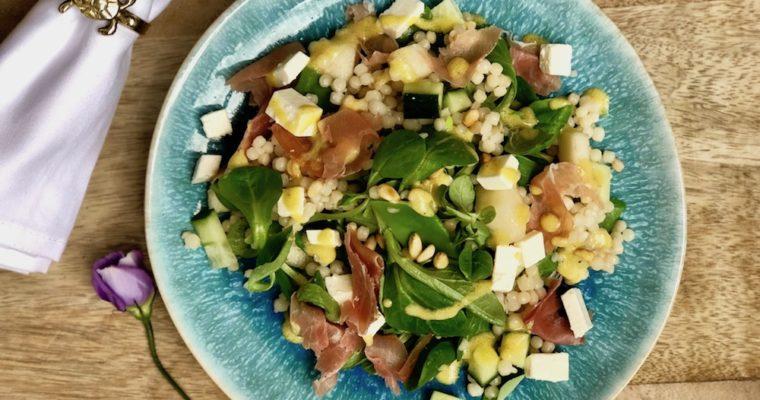Frisse parelcouscous salade