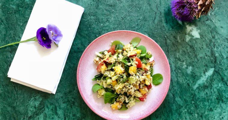 Nectarine-mozzarella salade
