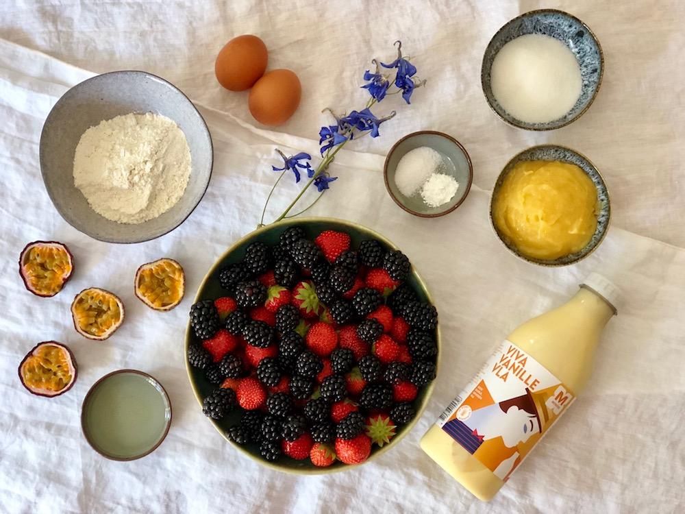 Ingrediënten taart van Menken vanille vla
