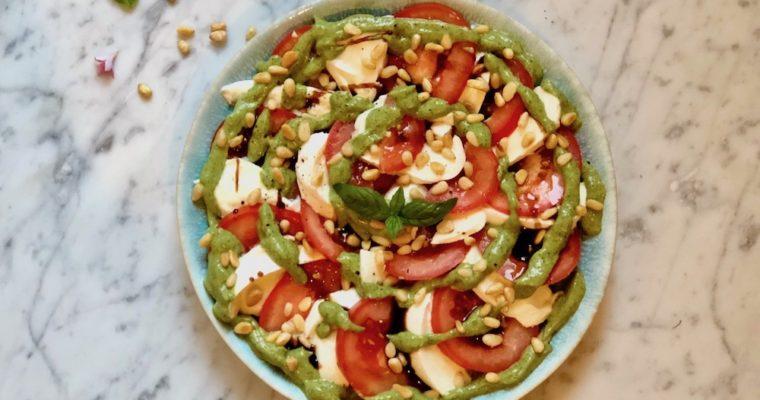Basilicum crème salade
