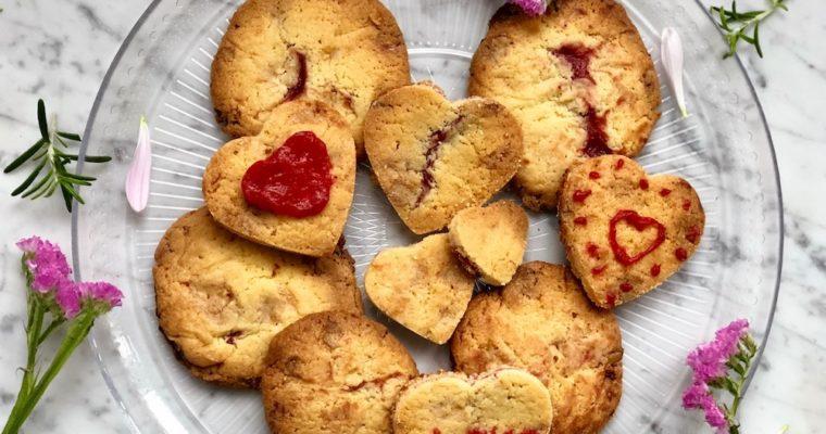 Aardbei & witte chocolade koekjes