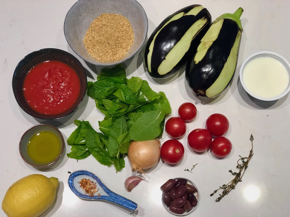 Ingrediënten Geroosterde Aubergine Bulgur